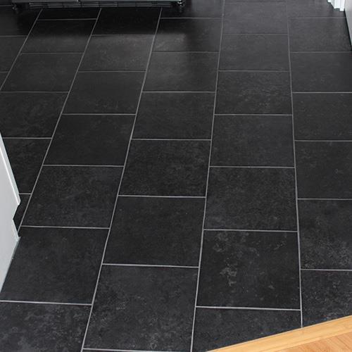 China Black Rustic Ceramic Floor Tiles Manufacturers And