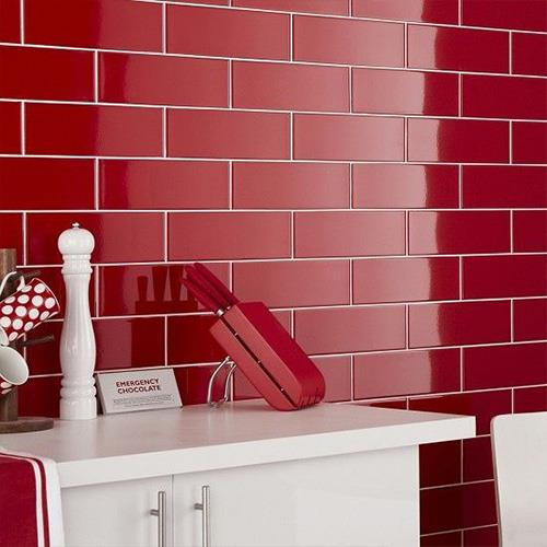 China Red Gloss Ceramic Wall Tiles Manufacturers and Suppliers ...