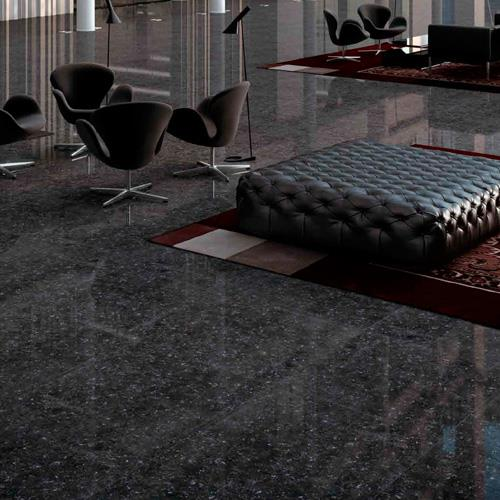 Black Polished Porcelain Floor Tiles