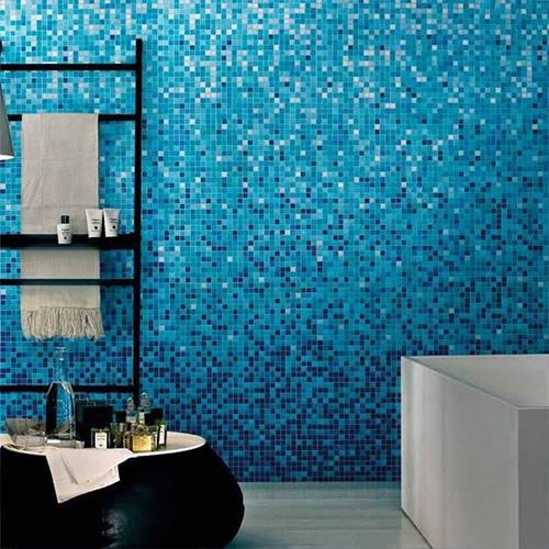 Blue Pressed Mosaic Tiles