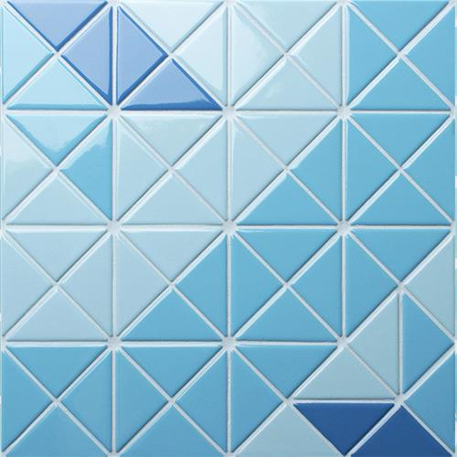 Blue Triangle Mosaic Tiles