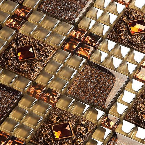 Brown Glass Mosaic Tiles