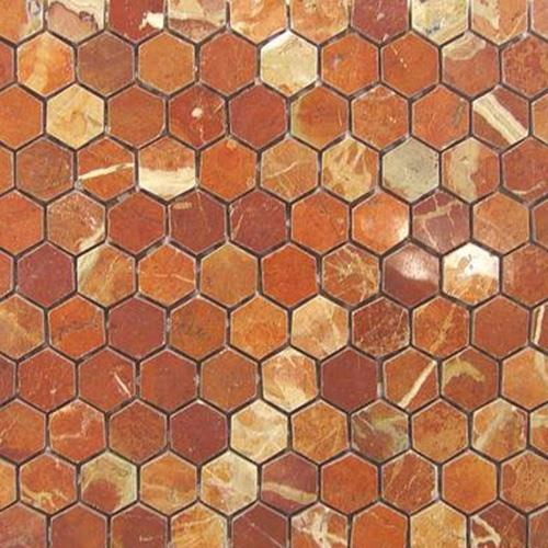 Brown Hexagon Mosaic Tiles