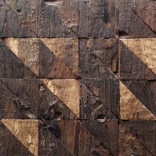 Brown Triangle Mosaic Tiles