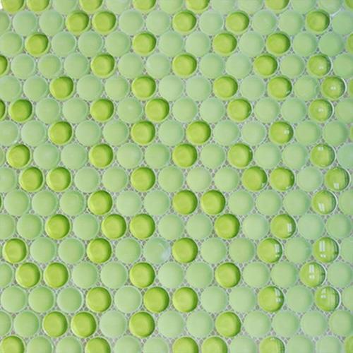 China Green Circle Mosaic Tiles Manufacturers And
