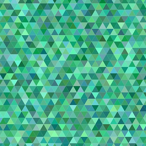 Green Triangle Mosaic Tiles
