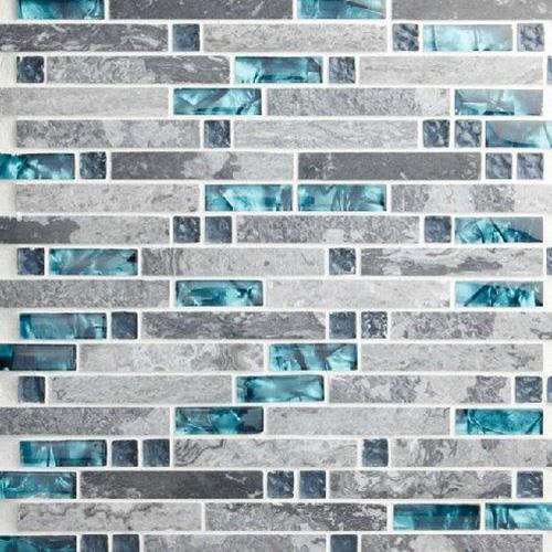Mixed Strip Mosaic Tiles