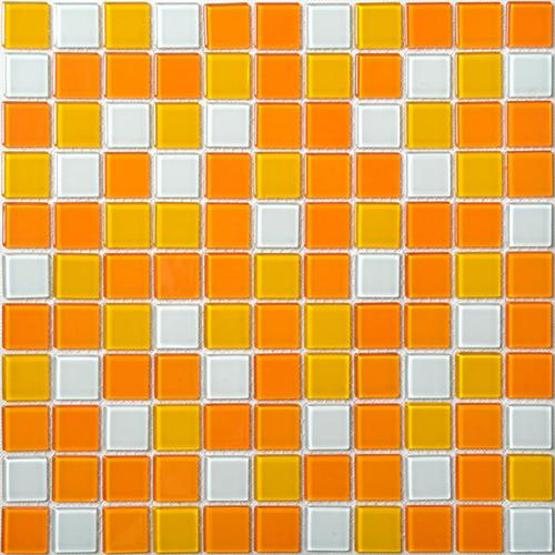 Orange Square Mosaic Tiles