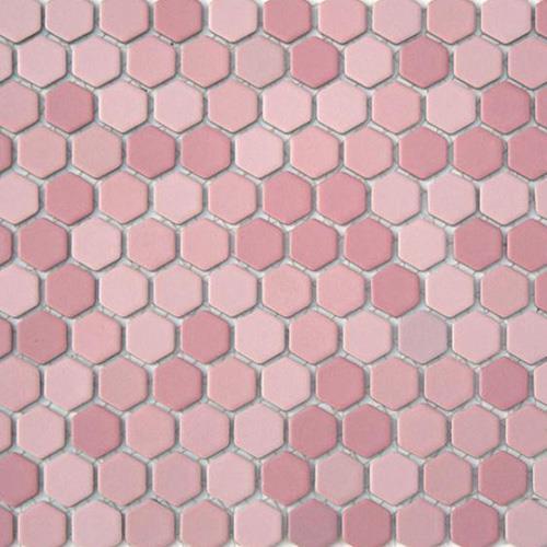 China Pink Hexagon Mosaic Tiles Manufacturers And
