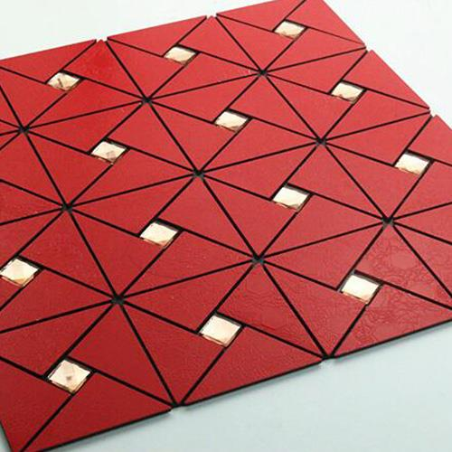 Red Triangle Mosaic Tiles