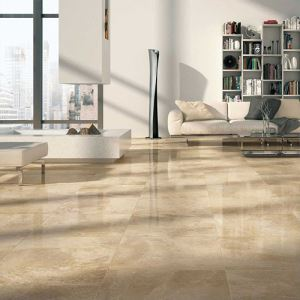 Beige Gloss Ceramic Floor Tiles