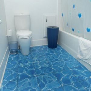 Blue Patterned Ceramic Floor Tiles