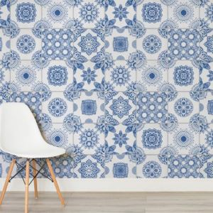 Blue Patterned Ceramic Wall Tiles