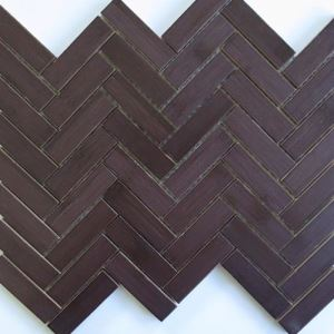 Brown Herringbone Mosaic Tiles