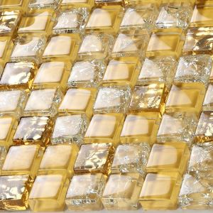 Golden Glass Mosaic Tiles