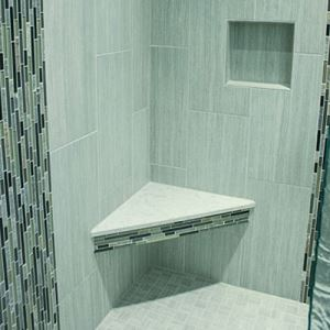 Green Strip Mosaic Tiles