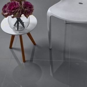 Grey Polished Ceramic Floor Tile