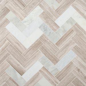Mixed Herringbone Mosaic Tiles