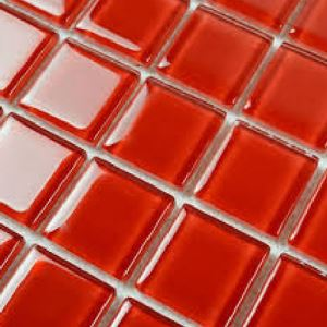 Red Glass Mosaic Tiles