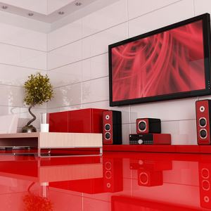 Red Gloss Ceramic Floor Tiles