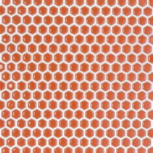 Red Hexagon Mosaic Tiles