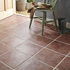 Red Matte Ceramic Floor Tiles
