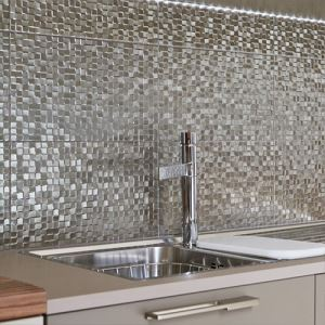 Silver Pressed Mosaic Tiles
