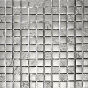 Silver Square Mosaic Tiles