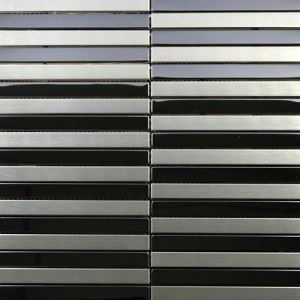 Silver Strip Mosaic Tiles