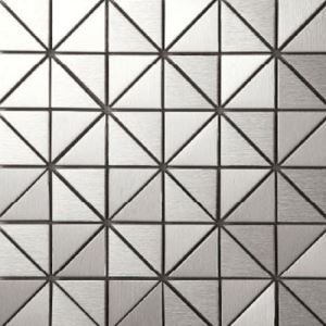 Silver Triangle Mosaic Tiles