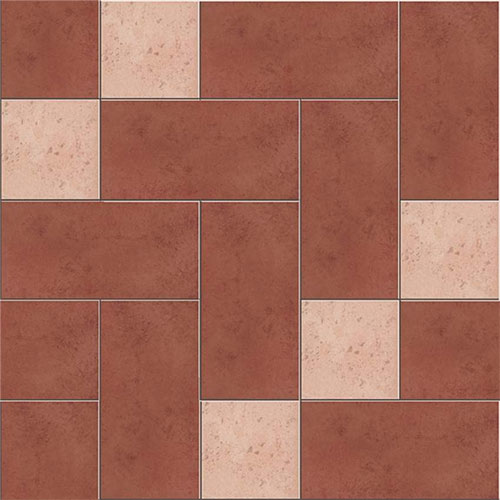 Red Rustic Bathroom Porcelain Floor Tile