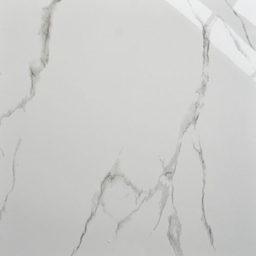Carara White Marble-Look Floor Porcelain Tile