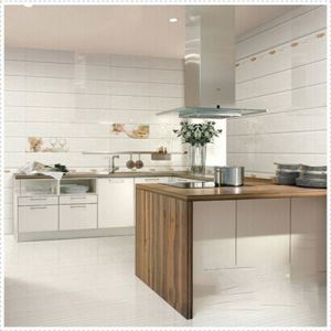White Porcelain Tile For Kitchen Floor