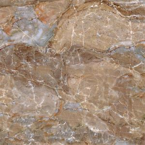 Brown Marble Textured Porcelain Floor Tile