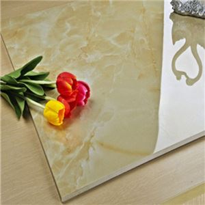 Glazed Marble-Look Floor Porcelain Tile
