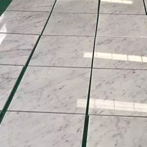 Carrara White Marble Bathroom Porcelain Floor Tile