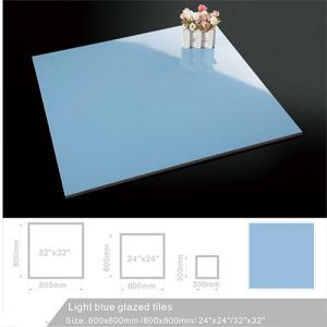 Light Blue Porcelain Floor Tile