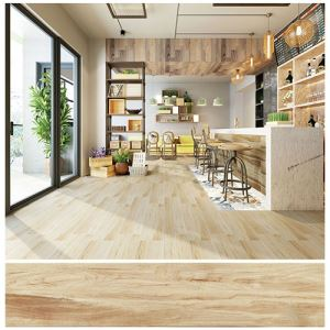 Non-slip Wood-Look Porcelain Floor Tile For Kitchen