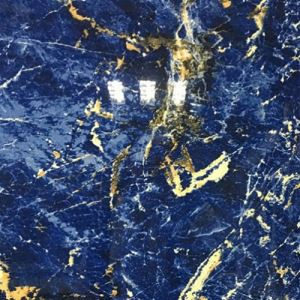 Blue Marble-Look Porcelain Flooring Tile