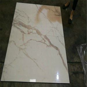 Polished Marble-Look Floor Porcelain Tile