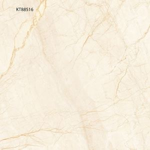 Yellow Marble-Look Porcelain Flooring Tile