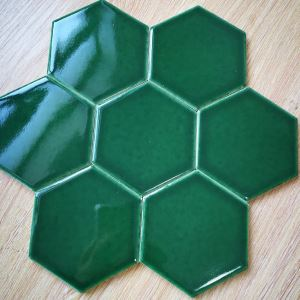 Green Hexagon Mosaic Tiles